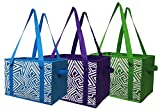 Earthwise Reusable Grocery Bag Shopping Box Tote COLLAPSIBLE BAG with Reinforced Bottom in