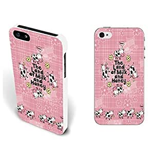 Case For Sam Sung Galaxy S4 Mini Cover - Cute Lovely Hard Back Phone Case with Quotes Animal Shape Pattern Print Monogram Iphone Cover Skin (By260: Floral Cows Pink)