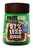 Nuttvia Hazelnut Spread with Sweeteners. Delicious & Palm Oil Free Hazelnut Spread 350 g Jar - 97% Less Sugar