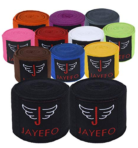 Jayefo Sports Hand Wraps 180 Inches Inner Boxing Gloves Martial Arts Wraps for Men & Women Boxing MMA Kickboxing Muay…
