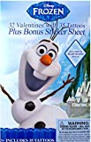 Disney Frozen Olaf 32 Valentines with 35 Tattoos Plus Bonus Sticker Sheet Includes 48 Heart Shaped Seal