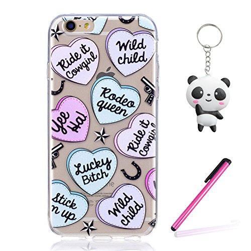 iPhone 6 6S Hülle Liebesbrief Premium Handy Tasche Schutz Transparent Schale Für Apple iPhone 6 6S + Zwei Geschenk