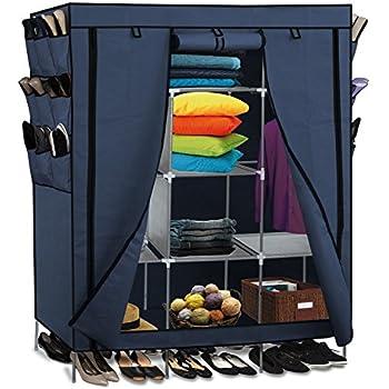 Amazon Com Portable Closet Storage Unit In White Home