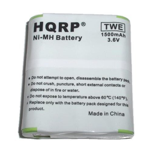 HQRP 1500mAh Battery Pack for Motorola T5600, T5700, T5800, T5900, T6500, T8500, T9500, T8500R, T8550RCAMO, T9500XLR, MD Series MD200R MD200TPR Series Two-Way Radio plus Coaster - 5700 Series Phones