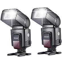 Neewer Two TT520 Flash Speedlite for Canon Nikon Sony Panasonic Olympus Fujifilm Pentax Sigma Minolta Leica and Other SLR Digital SLR Film SLR Cameras