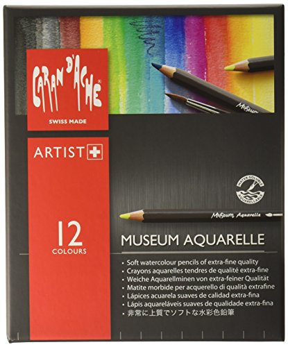 Aquarelle Set Pencil - Caran D'ache Museum Aquarelle Pencil Sets Museum Intro set of 12 colours (3510.312)