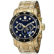 Invicta 0072 - Reloj para hombre color negro / dorado