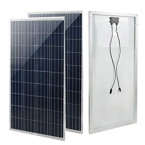 ECO LLC 300W 2pcs 150W 12V Poly Solar Panel for Off Grid Solar Module System Kit Boat Camping Power