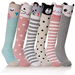 Machine washable for easy care.HIGH QUALITY GIRLS SOCKS- They are soft and elastic elasticity. They also Breathability,Antibiosis,Absorbent ,Deodorization odor-resistant, easy care, durable and will last long time.UNIQUE DESIGN:Cute animal pa...