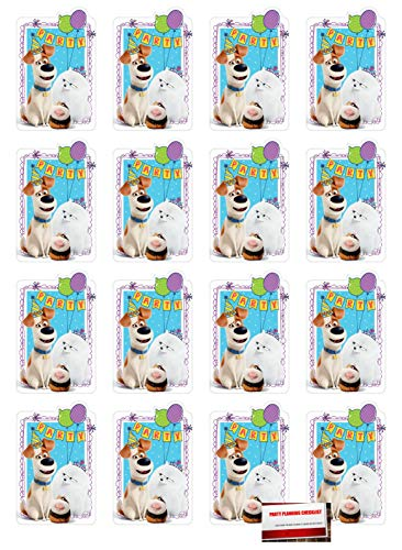 16 Pack Secret Life of Pets Part 2 Postcard Style Party Invitations with Envelopes, Seals and Save The Date Stickers (Plus Party Planning Checklist by Mikes Super Store) (Secret Life Of Pets Birthday Party Invitations)