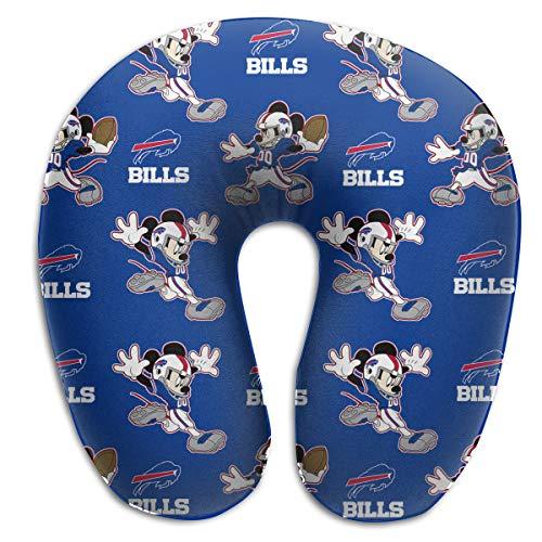 Jerrymoaus Buffalo Bills Unisex U Neck Polyester Travel Pillow Travel Memory Foam ()