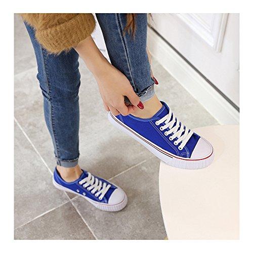 Sneakers Blue Adulte Femme Baskets Plat Lacet Basses Sapphire Tennis Ochenta Mixte qCAdvv