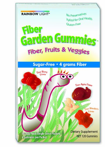 Rainbow Light Gummy fibre jardin, 4 Gummies par paquet, 30 paquets