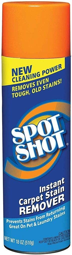 SPOT SHOT Instant Carpet Stain Remover Aerosol 18oz can for Pet & Laundry Stains (2 can)