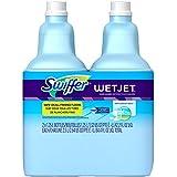 Swiffer WetJet Multi-Purpose Floor and Hardwood Cleaner Solution Refill,Wet Jet Refills in Open Window Fresh Scent, 1.25 Liter (2 Pack)