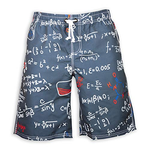 Prefer To Life Summer Men's Board Shorts Sexy Swimwear Beach Holiday Party Swimsuit Trunks 2XL(Learning Formula, 2XL) ()