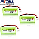 PKCELL 3 Pack cordless phone batteries for BT166342 BT266342 BT183342 BT283342 AT&T EL51100, EL51200, EL51250, EL52100, EL5220, EL52200, EL52210, EL52250, EL52300, EL52350, EL52400, EL52450, EL52500, EL52510