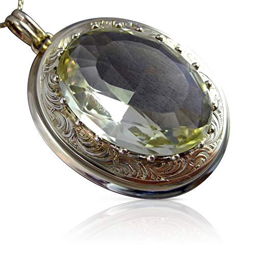 - Milano Jewelers Massive 60CT AAA Green Amethyst 14K Yellow Gold Pendant PIN Brooch 25500