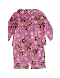 Nickelodeon Little Girls Pink Dora The Explorer Bubble Print 2 Pc Pajama Set 2T-4T