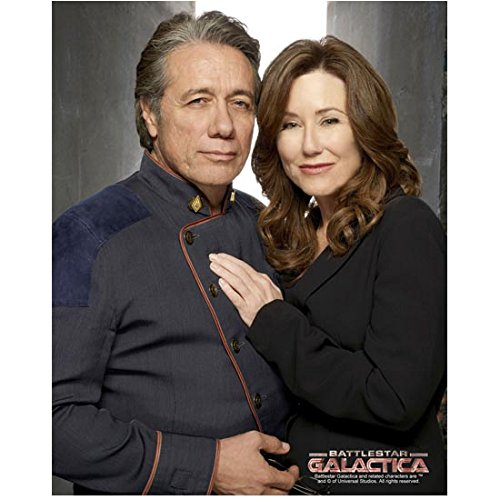 Edward James Olmos 8 x 10 Photo Blade Runner Battlestar Galactica Miami Vice w/Mary McDonnell Her Left Hand on His Chest kn -