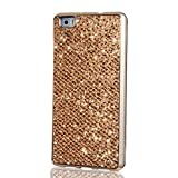 Samsung Galaxy S4 Mini Case, KSHOP Ultra Thin TPU Silicone Bumper Case Cover with [Electroplating Technology] Bling Glitter Soft Gel Back Case Cover for Samsung Galaxy S4 Mini-Gold