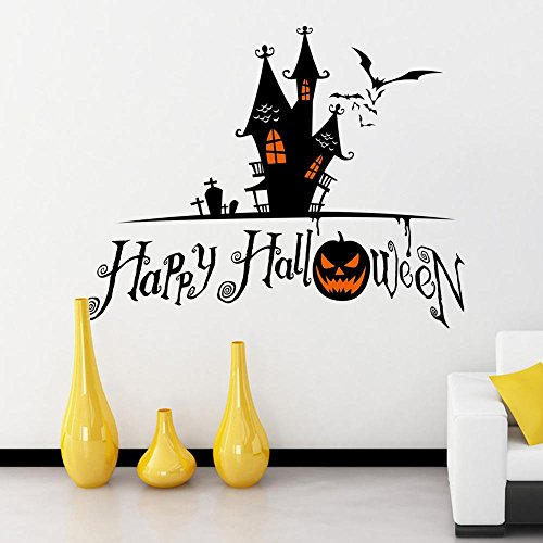 JMHWALL Halloween pumpkin skull 3D wall sticker for kids room living room bedroom Halloween party wall decal home decor PVC wall decal,B -