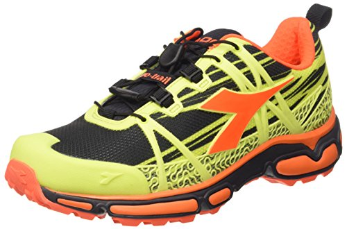 – Adulto Nero Giallo Unisex Scarpe Fluo Corsa Diadora Trail Giallo C4102 Race da wqYB0