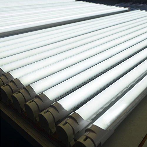 25pcs Sunnine 18W G13 4ft 6500K Single-Ended Power Bright White 110V-240V T8 LED Tube Light Works without ballast