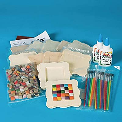 Tiny Tile Coasters Craft Kit (Makes 16): Industrial & Scientific