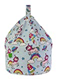 Cotton Space Unicorn Pastel Rainbow Bean Bag Child Size By Bean Lazy