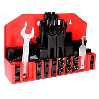 "PENSON & CO. Upgraded 58Pc Deluxe Steel Clamping Kit 5/8"" T-Slot 1/2""-13 Stud Bridgeport Mill"