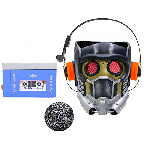 Xcoser Guardians Star Cosplay Lord Light Up Lifesize Helmet Adult Set