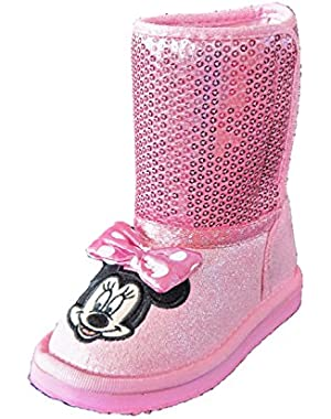Minnie Mouse Pink Sequin Sparkle Toddler Girl Boots