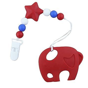 Mxssi Elefante mordedor Colgante para Bebés, Niños, Niño, BPA Libre ...