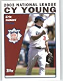 2004 Topps Baseball Card #715 Eric Gagne CY (Cy Young) Los Angeles Dodgers - MLB Trading Card