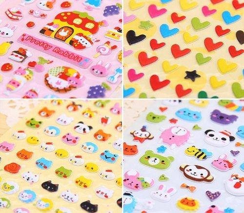 album Ourbest fogli cute lovely 3D DIY decorativo gonfio/ /Nastro adesivo per//Kids Craft scrapbooking sticker set per diario