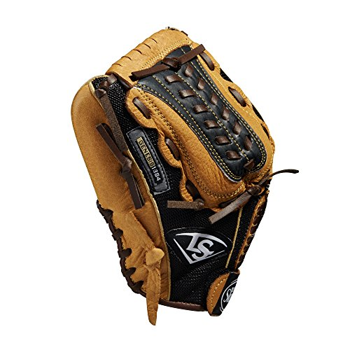 Louisville Slugger 11.5-Inch FG Genesis Baseball Infielders Glove, Brown, Left Hand Throw (Tpx Mesh)