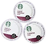 144 Pack - Starbucks Variety Coffee K-Cup Featuring 3 Dark Roast for Keurig Brewers – French Roast, Sumatra, Caffe Verona