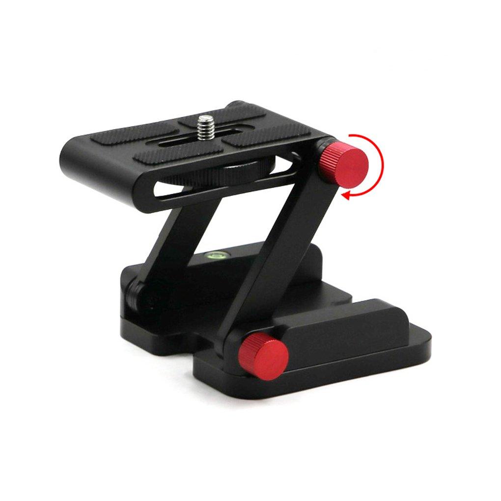 Zタイプ折りたたみ式ヘッドノブデザインFlex Zパン折りたたみデスクトップクイックリリースプレートカメラの三脚Tilt Head   B0728J92D9