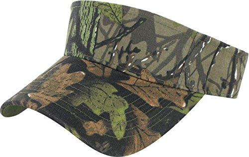 Dealstock Plain Men Women Sport Sun Visor Adjustable Cap (Dark Forest)
