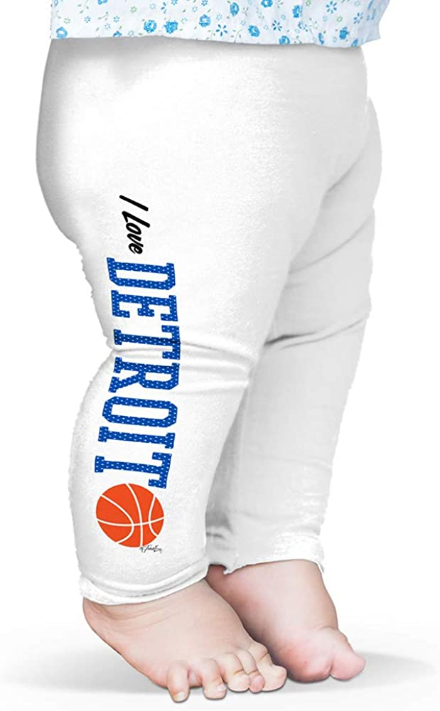 Twisted Envy Baby Leggings I Love Detroit Basketball Baby and Toddler Girls Leggings