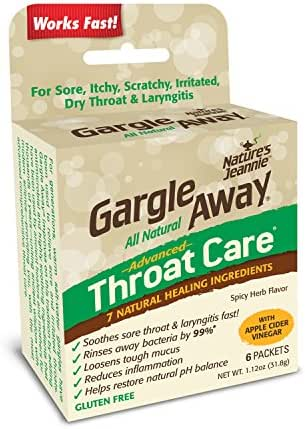 Gargle Away Comprehensive Throat Care, 6-PK | Natural Sore Throat Remedy, Mucus Relief, Singer's Throat Gargle