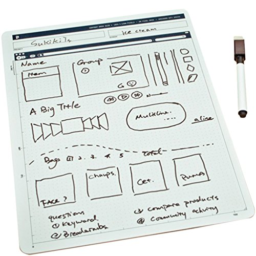 ZZ Lighting Creative Portable Whiteboard Double-Sided Whiteboard Dry Erase Board Office Drawing Painting Board Small Graffiti Board with Marker by ZZ Lighting (Image #7)