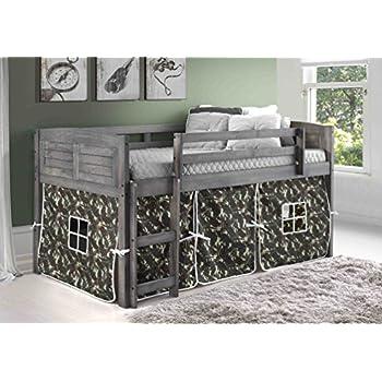 Amazon Com Donco Kids 790aag 750c Tc Louver Low Loft Bed