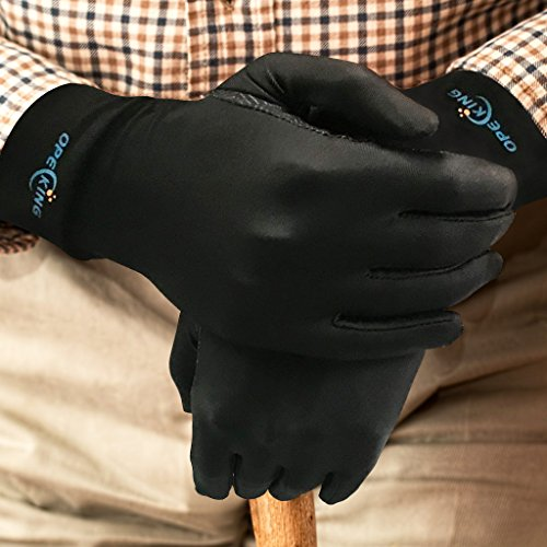 Compression Gloves for Women, Copper Arthritis Gloves Joint Pain,for Carpal Tunnel,Swelling,Typing,Night Time,Black - Medium by OpeCking (Image #3)