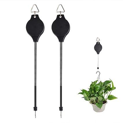 Amazon.com: 2 paquetes de colgadores de plantas ajustables ...