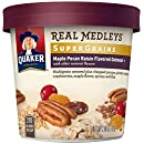 Quaker Real Medleys Super Grains Oatmeal+, Maple Pecan Raisin, Instant Oatmeal+ Breakfast Cereal, (Pack of 12)