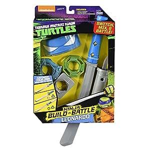 Kids Indoor Fun Playtime Teenage Mutant Ninja Turtles Build N Battle Leonardo Role Play TMNT