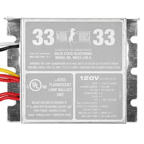 Workhorse 33 - Cube Case - Fluorescent Ballast - 120 Volt - Fulham WH33-120-C