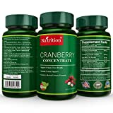 Natrition Cranberry Concentrate Extract Capsules - Proprietary Formula for Urinary Health Support and Antioxidant Protection - 90 Veggie Capsules per Bottle